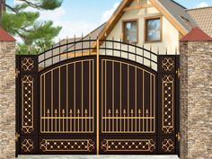 VK is the largest European social network with more than 100 million active users. Home Gate Design, Gate Wall Design, Steel Gate Design, Front Gate Design, Pooja Room Door Design, Main Gate Design, Front Gates, Entrance Gates, Entry Doors