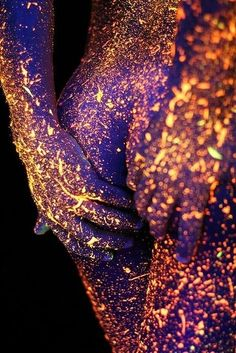 Gives an idea for a fun night with your partner. GLow in the dark body paint!