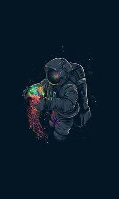un toque de color hermoso en el espacio oscuro ATT:SCHANTTAL