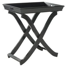 Check out this item at One Kings Lane! Henrik Tray Table, Black