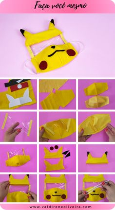 faca você mesmo mascara de tecido Small Sewing Projects, Diy Craft Projects, Sewing Crafts, Easy Face Masks, Diy Face Mask, Cute Crafts, Diy And Crafts, Mouth Mask Fashion, Clothing Hacks