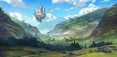 fantasy landscape lost valley