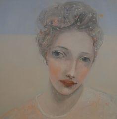 Kristin Vestgard I see oil on board 40 x 40 cm (framed) £ 2150