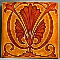 Pilkington Art Nouveau Tile