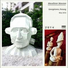 Only Heads, no tails #heads #male #female #art #sculptures #big #small #penang #MacallisterMansion #classy