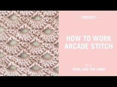 How to Crochet the Arcade Stitch - Crochet Tutorial - YouTube