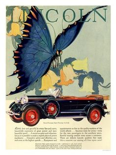 lincoln art deco car advert