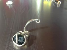 OOK Silver Necklace Pendant with Onyx Stone by JewelSpectrum