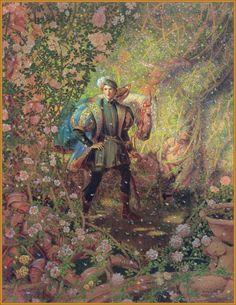 Sleeping Beauty illustration by Kinuko A Craft Sleeping Beauty Book, Classic Fairy Tales, Renaissance Paintings, Briar Rose, Fairytale Art, Beautiful Paintings, Illustrators, Fantasy Art, Illustration Art