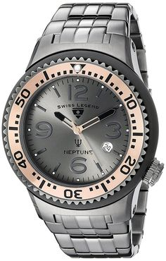 Swiss Legend Men's 21848P-GM-104-RB Neptune Force Analog Display Swiss Quartz Grey Watch *** See this great product.