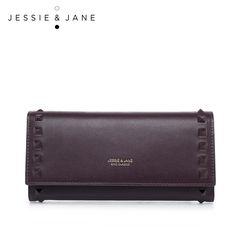 Aliexpress.com : Buy JESSIE & JANE 2016 New Simple Rivet Long Wallet Purse…