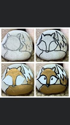 Rock Painting Patterns, Rock Painting Ideas Easy, Rock Painting Designs, Pebble Painting, Pebble Art, Stone Painting, Painted River Rocks, Painted Rock Animals, Pet Rocks