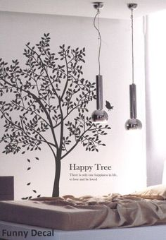 Wall Art - Happy treeVinyl Wall Decal Tree Wall Decals Wall by FunnyDecal, $62.00