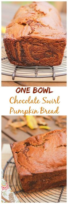 This easy recipe for One Bowl Chocolate Swirl Pumpkin Bread is filled with warm Fall spices and pumpkin flavor, plus a surprise swirl of milk chocolate from The Chef Next Door.