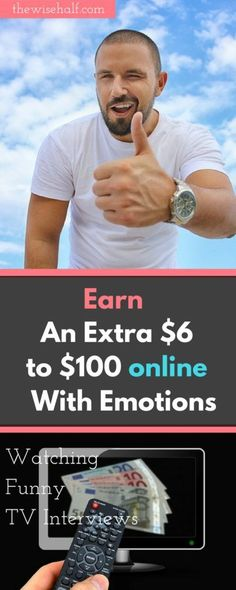 make money watching videos, mining emotions. Get paid 6$ to $100 watching funny interviews. emotion miner