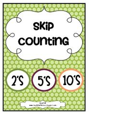 Grab this FREEBIE and practice skip counting by 2's, 5's