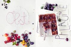 Berries and Plum cake: Lovely crisp white backgrounds work perfectly to highlight the fruit! [Styling dietlind wolf; photo: wolfgang schardt]