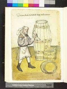 1425 cooper, barrels, bucket  Die Hausbücher der Nürnberger Zwölfbrüderstiftungen