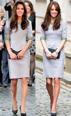 Kate Middleton Recycles Her Favorite Sleek Gray Dress—and Sorry ...