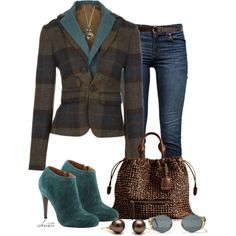 """Blazer and Jeans"" by christa72 on Polyvore"