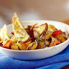 Roasted Potato Salad Yellow potatoes give classic potato salad a new look; basil gives it a summer-fresh flavor.