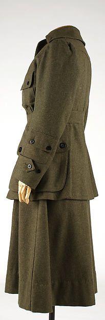 Uniform (image 3) | Abercrombie & Fitch Co. | American | 1917 | wool | Metropolitan Museum of Art | Accession #: 1981.523.4a–d