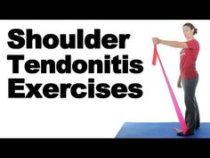 Shoulder Tendonitis Exercises for Pain Relief – Ask Doctor Jo Shoulder exercises are great for shoulder tendonitis pain relief. This inflammation to the tendons in your shoulder can be the rotator cuff tendons or even the … source Shoulder Tendonitis Exercises, Bursitis Shoulder, Shoulder Pain Exercises, Rotator Cuff Exercises, Shoulder Injuries, Shoulder Workout, Shoulder Tendonitis Treatment, Physical Therapy Shoulder, Shoulder Rehab