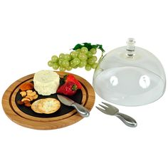 Provence Cheese Server with Glass Dome