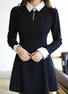 Anni Coco Long Sleeve Peter Pan Collar Party Dresses X-Large Black Cute Dresses, Vintage Dresses, Beautiful Dresses, Party Dresses, Teen Fashion Outfits, Fashion Dresses, 2000s Fashion, Retro Fashion, Fashion Tips