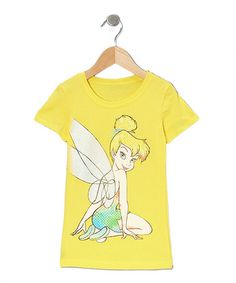 Yellow Tinker Bell Fashion Tee - Girls #zulily #zulilyfinds