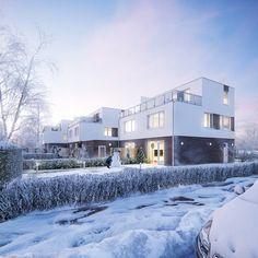 Winter impression Dusk | CGI on Behance