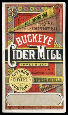 Buckeye Cider Mill | Sheaff : ephemera