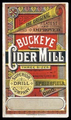Buckeye Cider Mill   Sheaff : ephemera