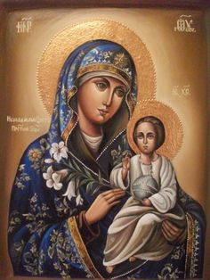 Madonna Enthroned Religious Art by Christian Art Religious Pictures, Religious Icons, Religious Art, Blessed Mother Mary, Blessed Virgin Mary, Images Of Mary, Queen Of Heaven, Mary And Jesus, Holy Mary