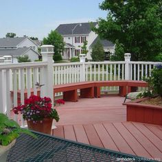 Incorporate delightful details into your deck design with color contrast and railing accents such as lighting, post caps and balusters. | more at archadeckwestcounty.com