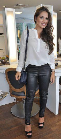 Calça de Couro| Camisa Manga Longa.✨