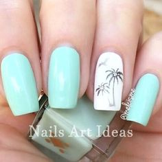 Great classy short nails art designs Source by womensfashioncorner Tropical Nail Designs, Orange Nail Designs, Diy Nail Designs, Short Nail Designs, Acrylic Nail Designs, Beach Nail Designs, Hawiian Nails, Design Ongles Courts, Cruise Nails