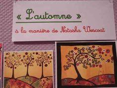 """Arts visuels au CE2 : """"l'automne"""" à la manière de Natasha Wescoat - Ecoles de Jouy-aux-arches"""