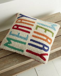 Winter Words Holiday Pillow Cover