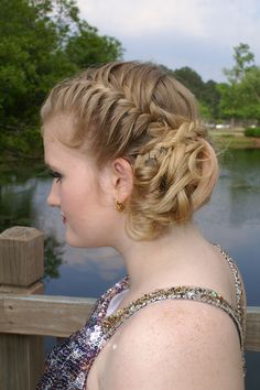 Pretty prom hair.