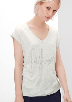 Buy Statement T-shirt with a glitter effect | s.Oliver shop