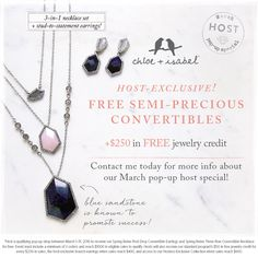 WOW! check out March Incentives! Contact me today to book a Chloe + Isabel pop-up shop during the month of March! https://www.chloeandisabel.com/boutique/yourstyle1