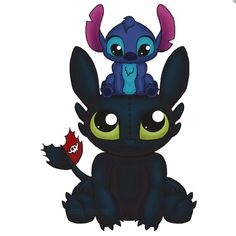 Stitch and Toothless.. I LOVE this.