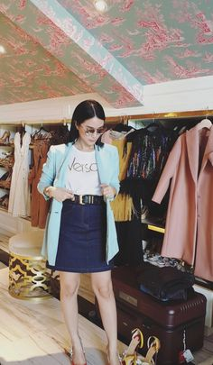 Girls Fashion Clothes, Fall Fashion Outfits, Chic Outfits, Spring Outfits, Girl Fashion, Inspired Outfits, Heart Evangelista Style, Celebrity Style Casual, Everyday Outfits