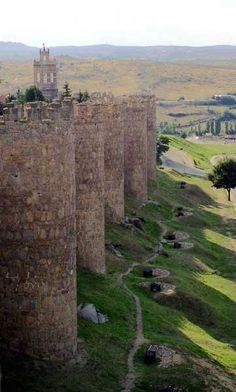 Vicky Christina Barcelona: Walls of Ávila, Spain Places Around The World, Oh The Places You'll Go, Travel Around The World, Places To Travel, Places To Visit, Around The Worlds, Vicky Christina Barcelona, Beautiful World, Beautiful Places