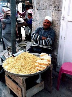 Lupin beans vendor, Hebron, West Bank