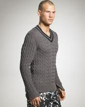 mens cable sweater - Google Search
