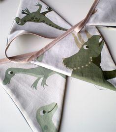Dinosaur bunting. To go around Heston's bed.