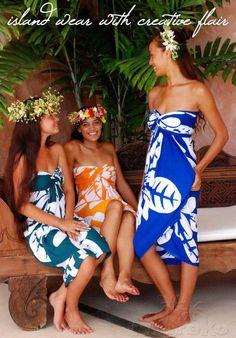the colors and patterns! Island Wear, Island Outfit, Hawiian Shirts, Polynesian Girls, Beautiful Dark Skinned Women, Paisley, Fashion Show, Fashion Outfits, Vintage Hawaii