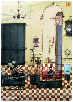 eric guillon _Despicable Me - GRU'S house
